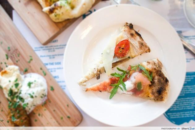 Prettiest Restaurant Storefront UOB YOLO Plank Sourdough Pizza Smoked Salmon