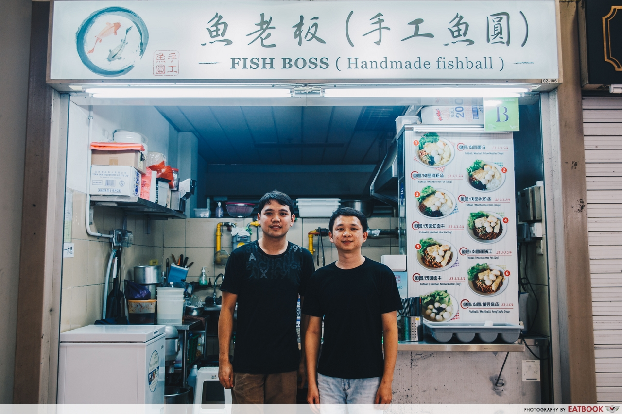 old-school hawkers - fish boss