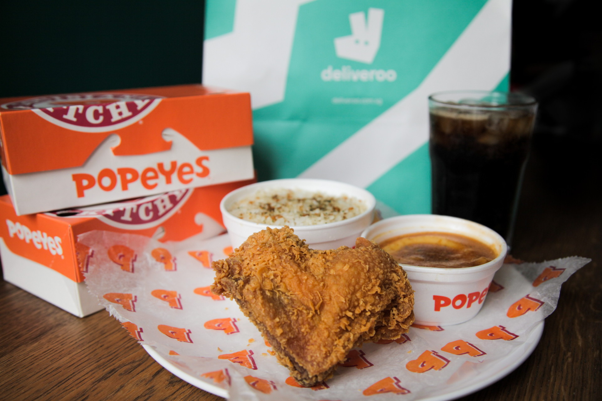 deliveroo popeyes