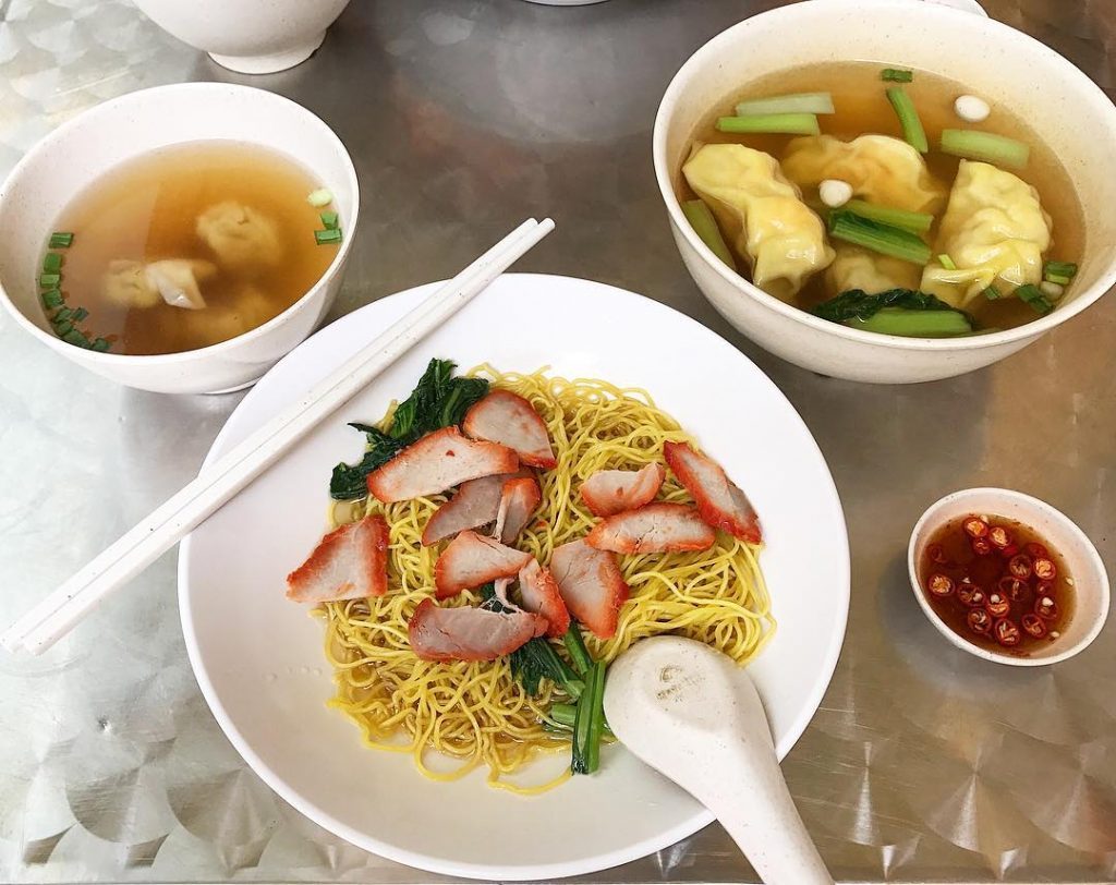 old school hawker stalls nam seng wanton mee