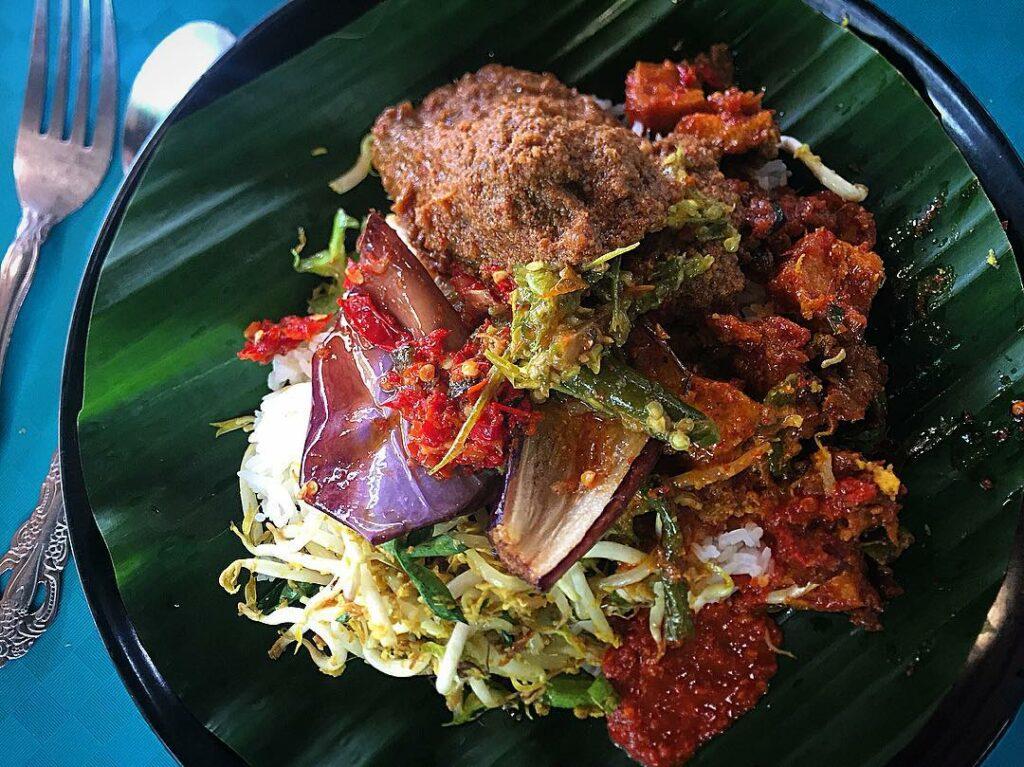 old school nasi padang stalls Sinar Pagi Nasi Padang