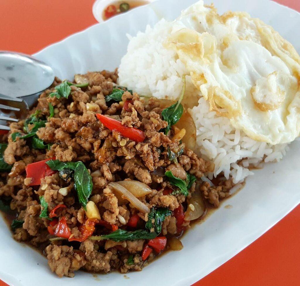 Bedok Interchange Hawker Centre thai basil chicken rice