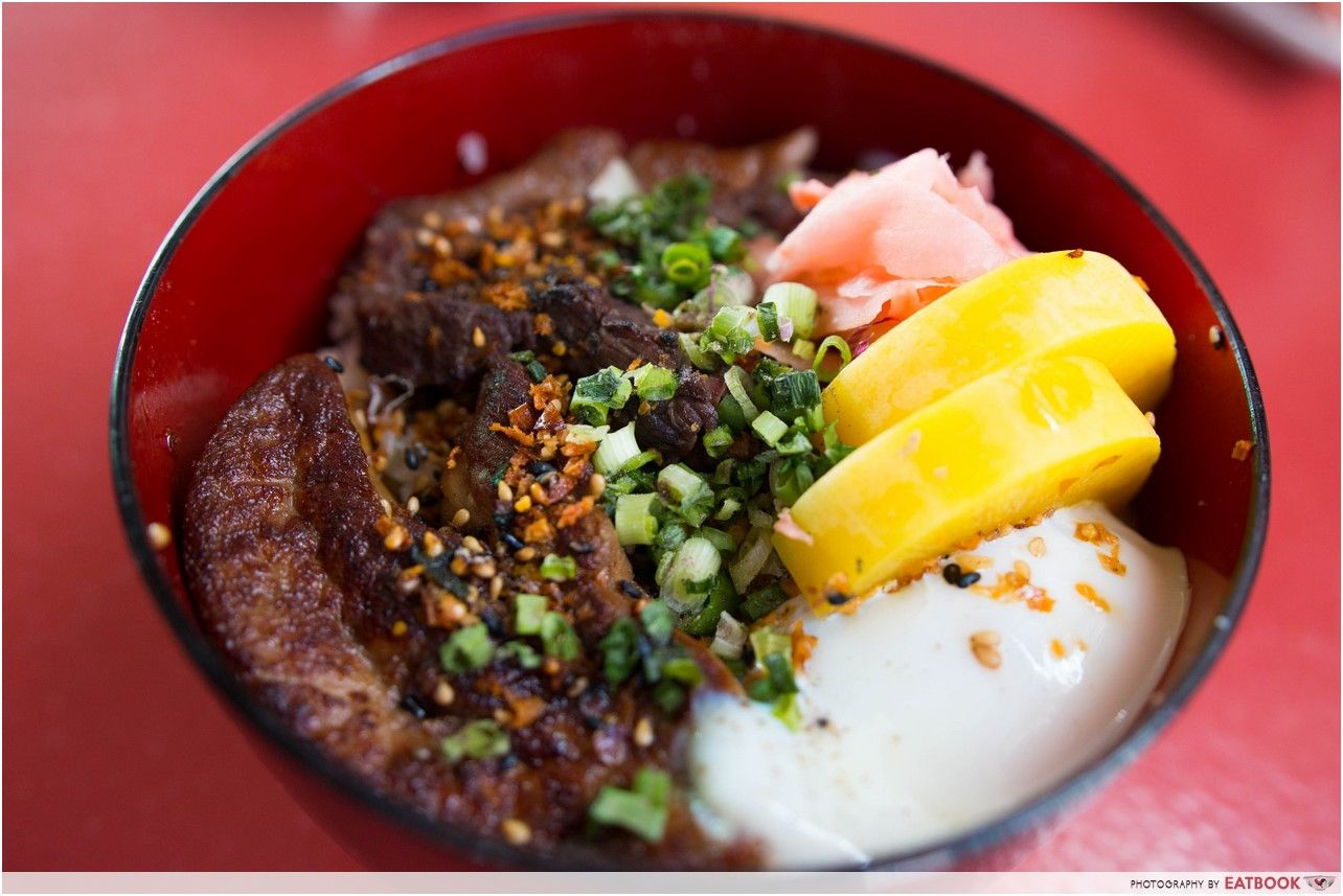 hawker beef donburi - burning oak