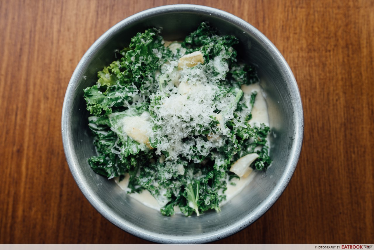 Fat Belly- creamed kale