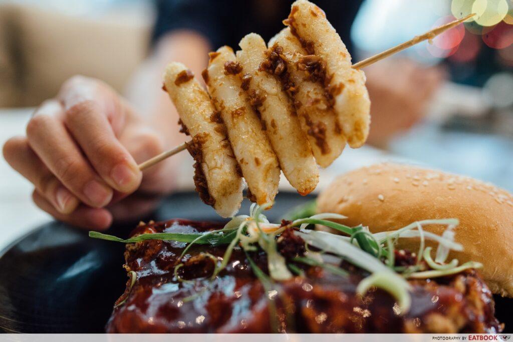 Lowercase Kimchi Burger Tteok