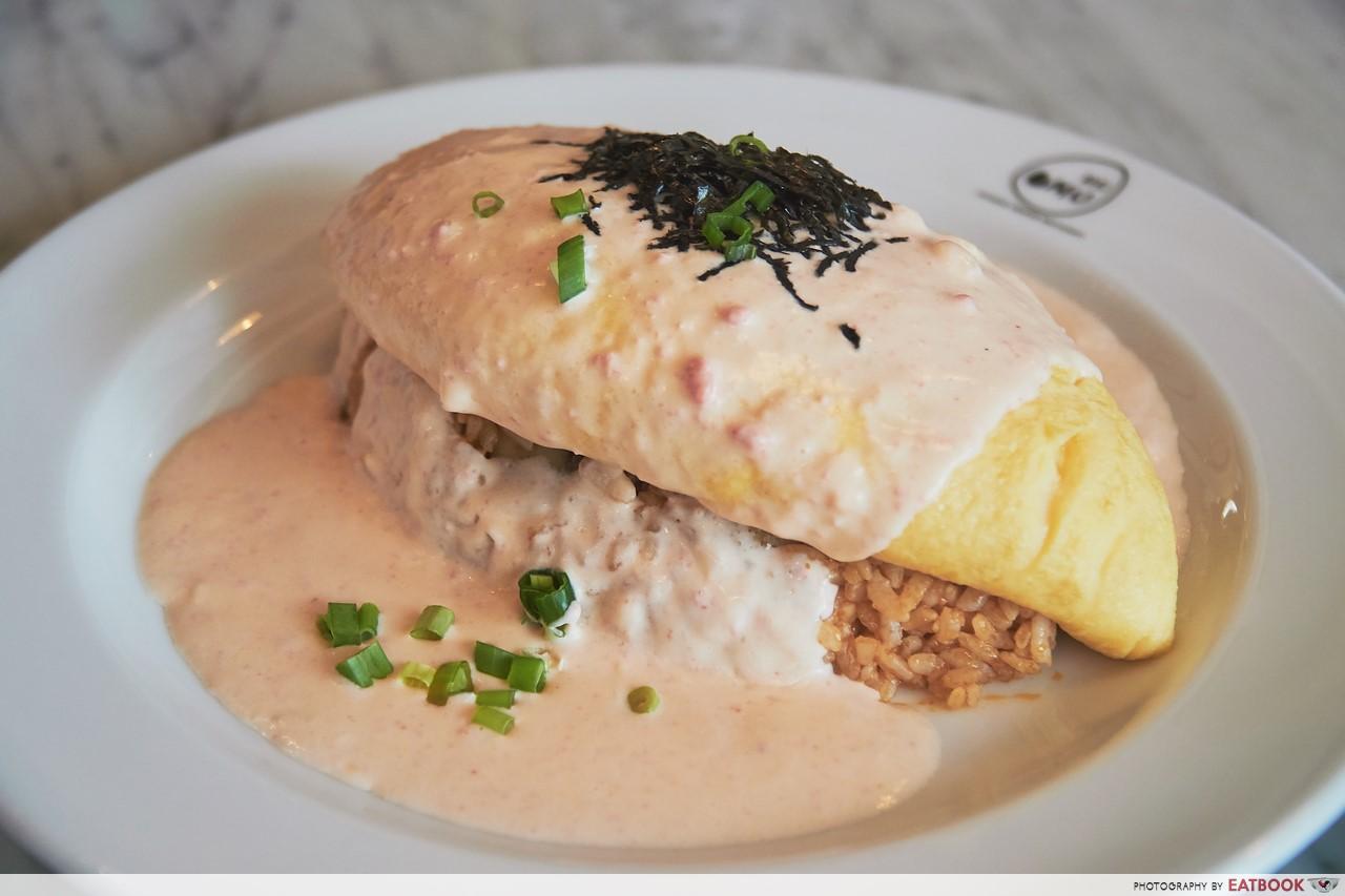 Omu - Mentaiko Cream Sauce Omurice