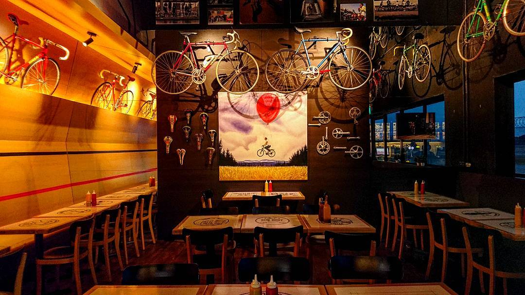 Rustic cafes - bicycle cafe