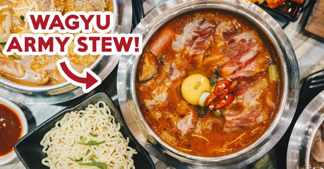 Seoul Garden hotpot wagyu army stew