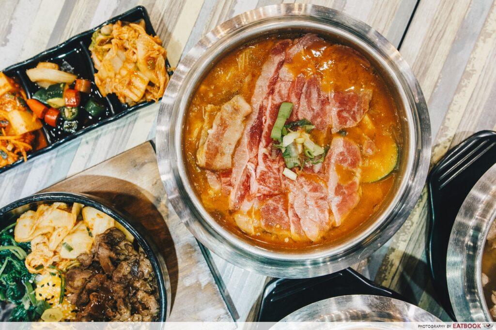 Seoul Garden hotpot wagyu beef kimchi jjigae