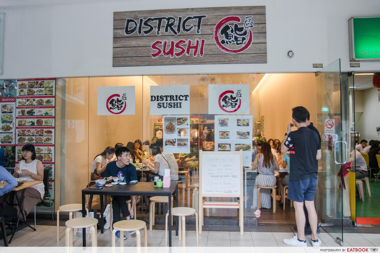 district sushi - shop front