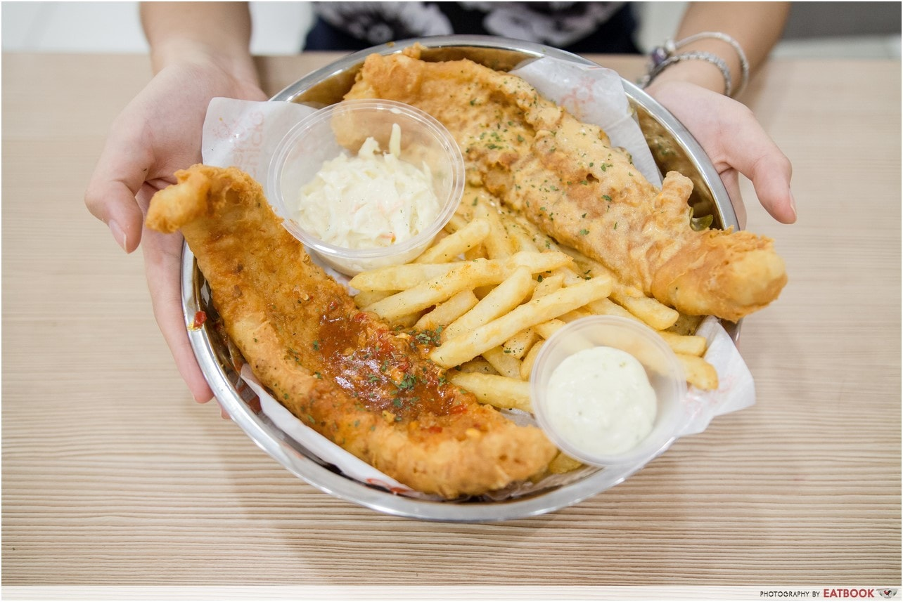 unique fish and chips- fish and chicks
