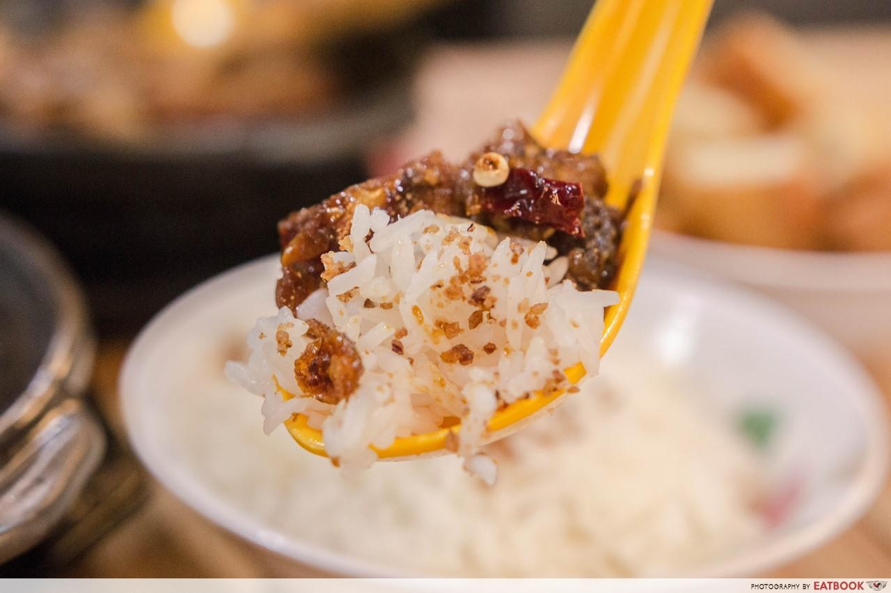 kee hiong klang bak kut teh - garlic rice
