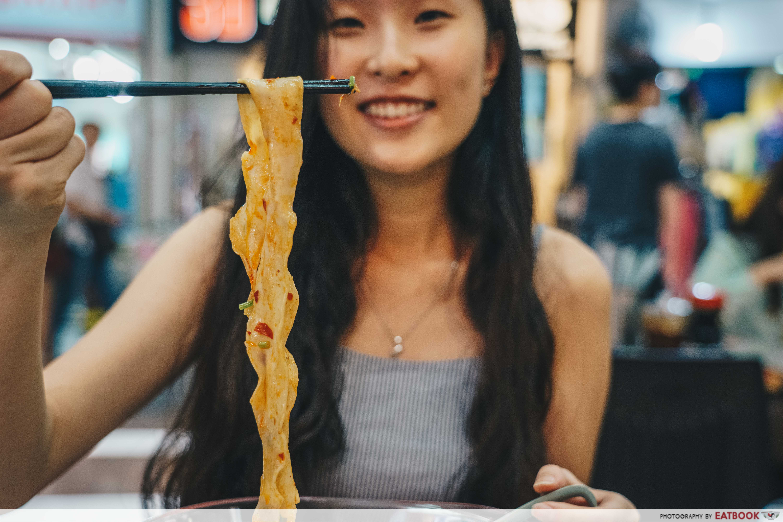 Biang Biang Noodles- pulling noodles