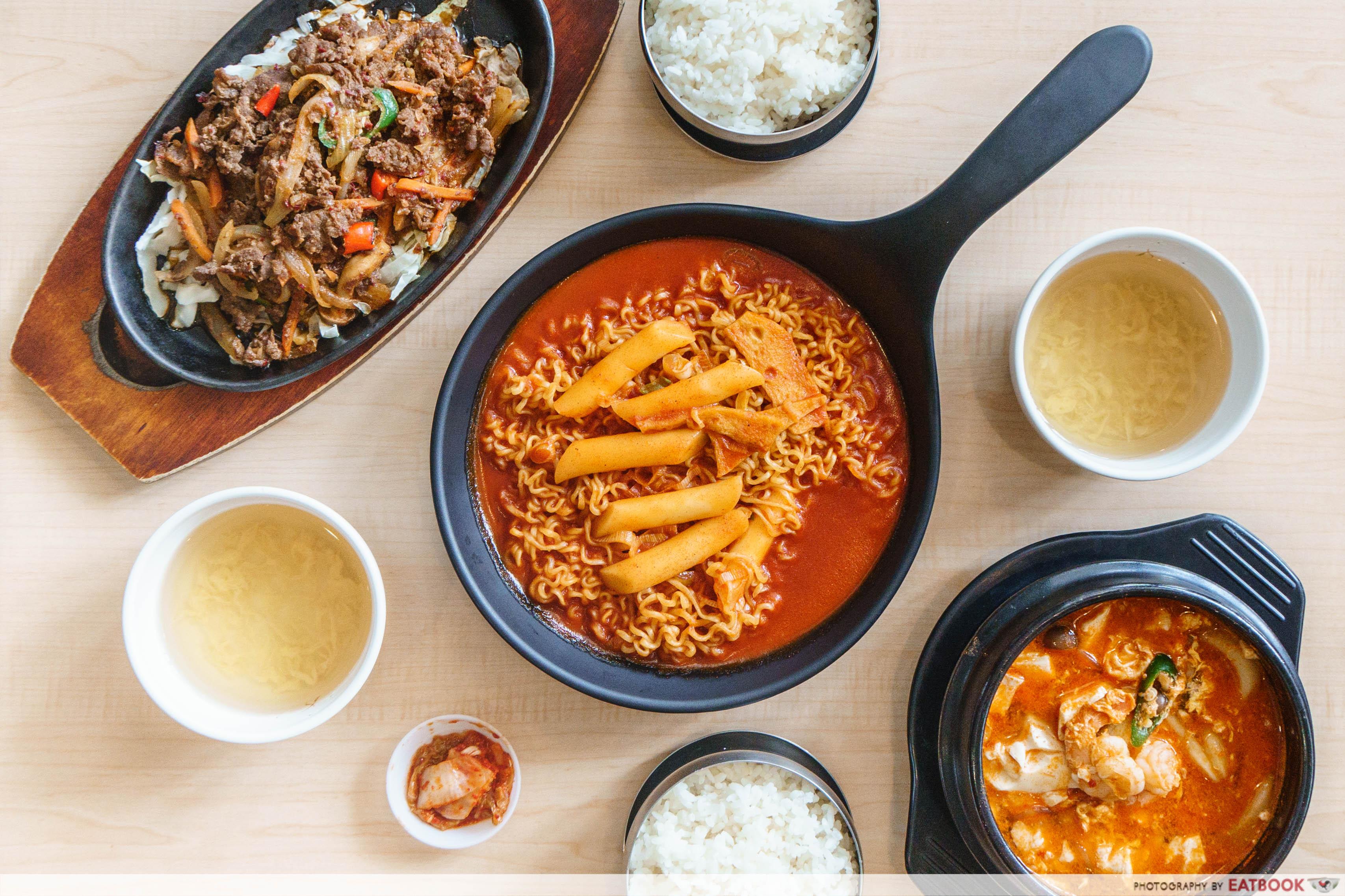 Daebak Korean Restaurant- flatlay