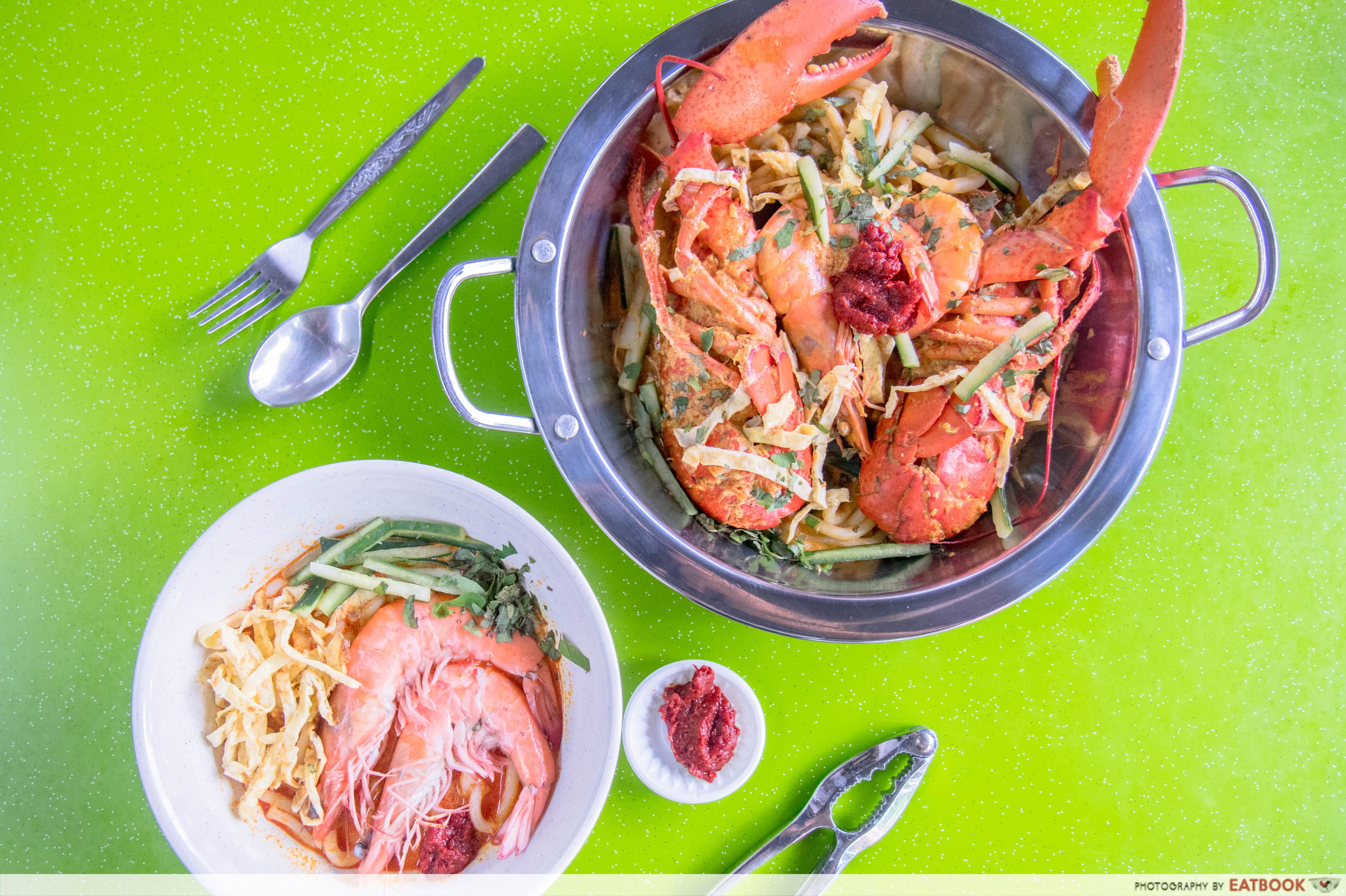 lobster laksa - Flatlay