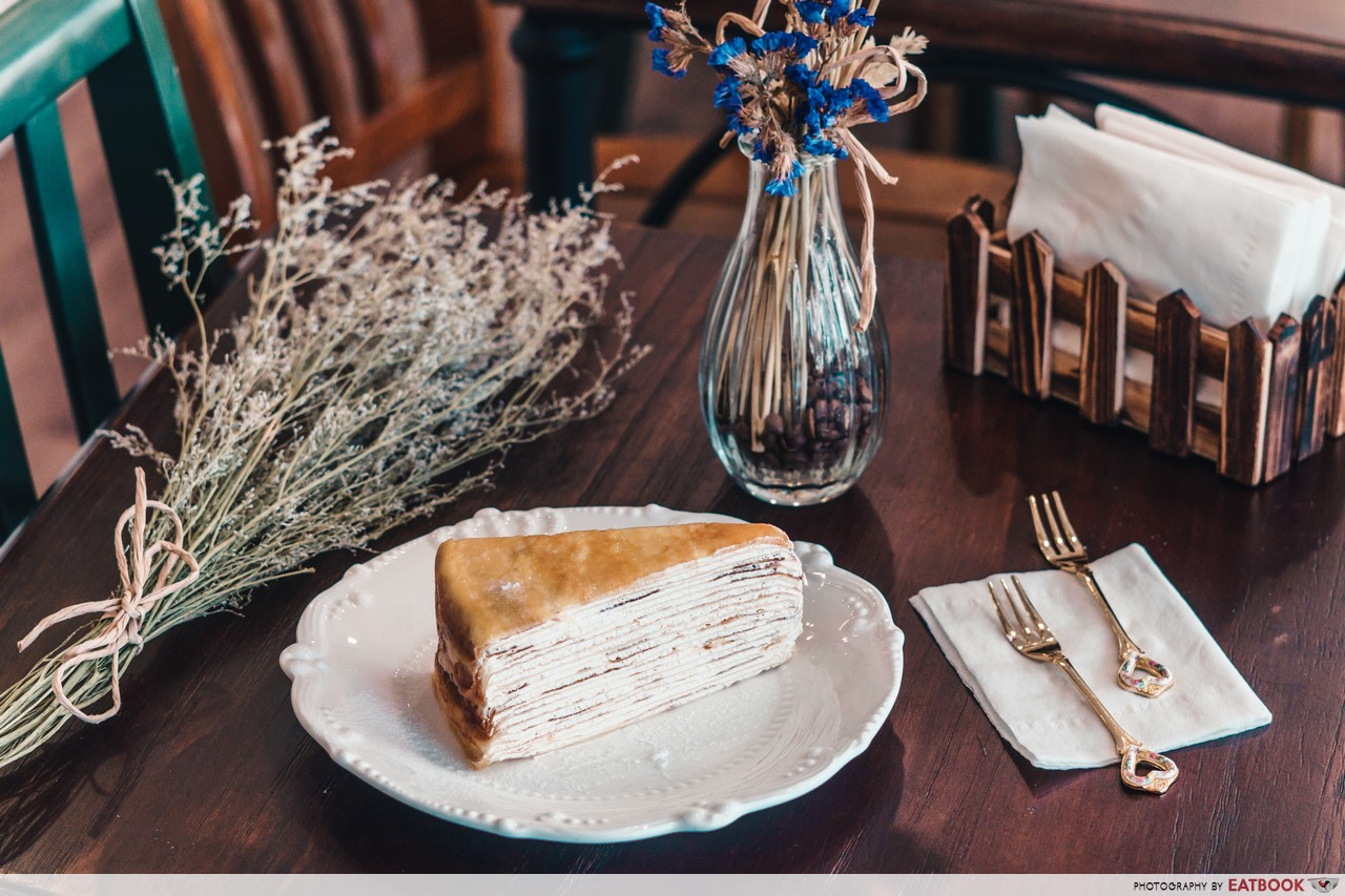 Romantic Cafes - French Vanilla Crepe Cake