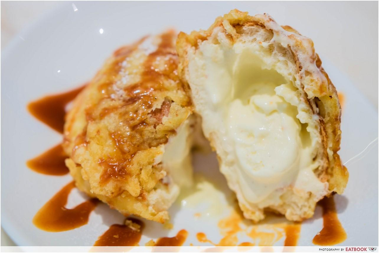 Romantic Cafes - Tempura Ice-cream