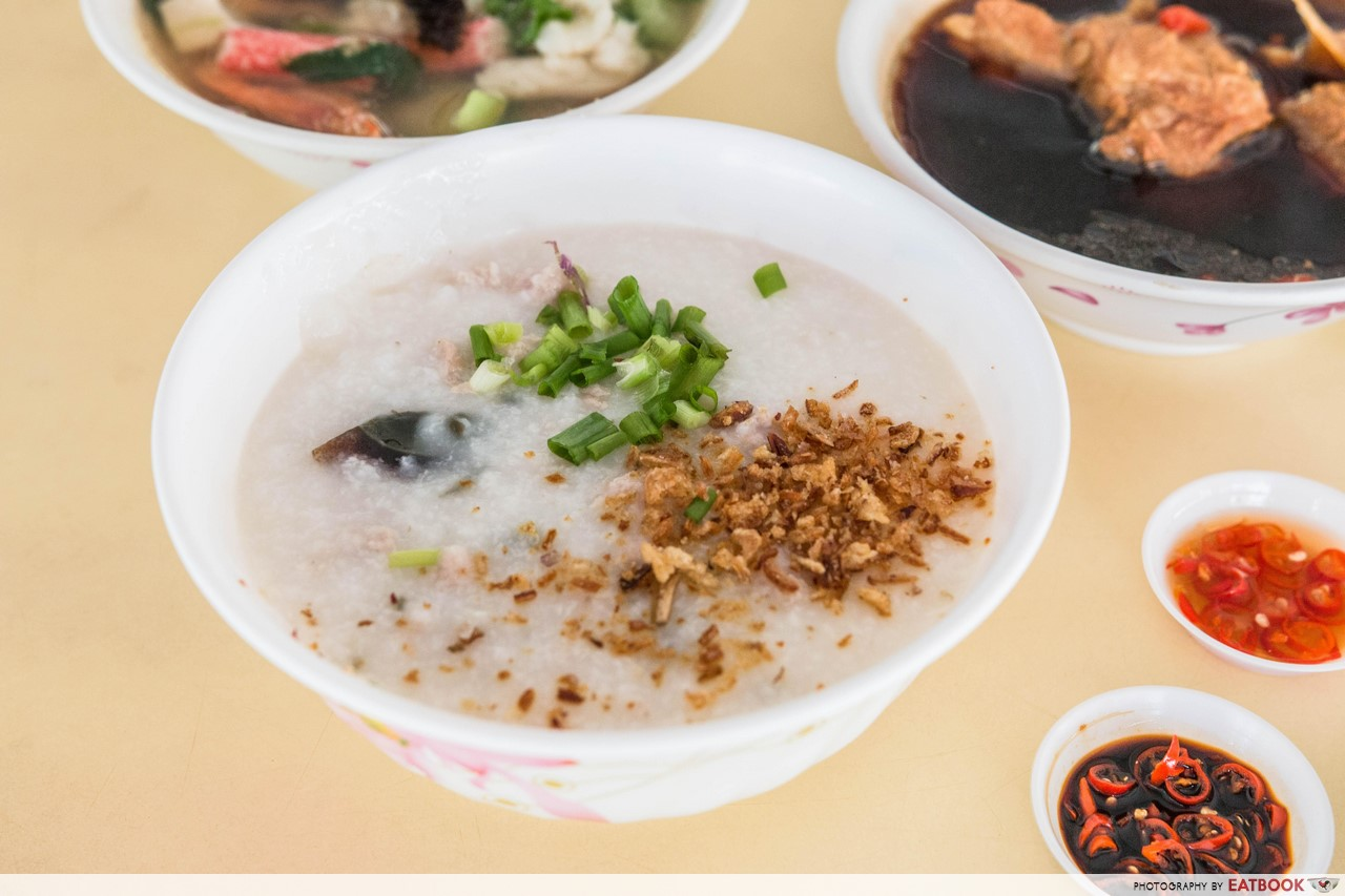 Xian Jin Mixed Vegetable Rice - Century Egg Minced Meat Porridge