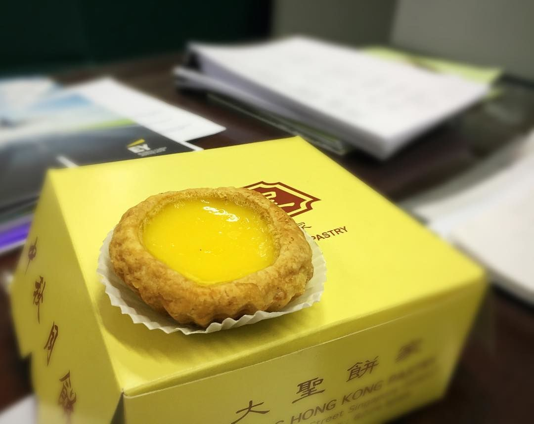 old-school egg tarts - Da Sheng Hong Kong Pastry