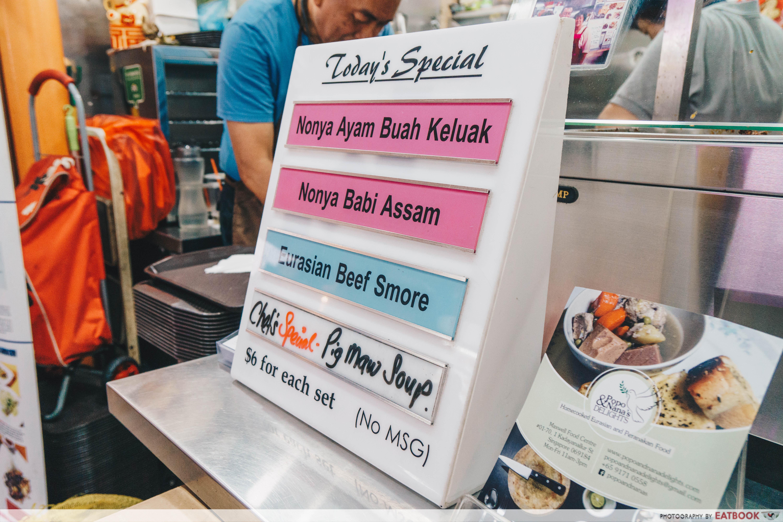 popo and nana's - menu