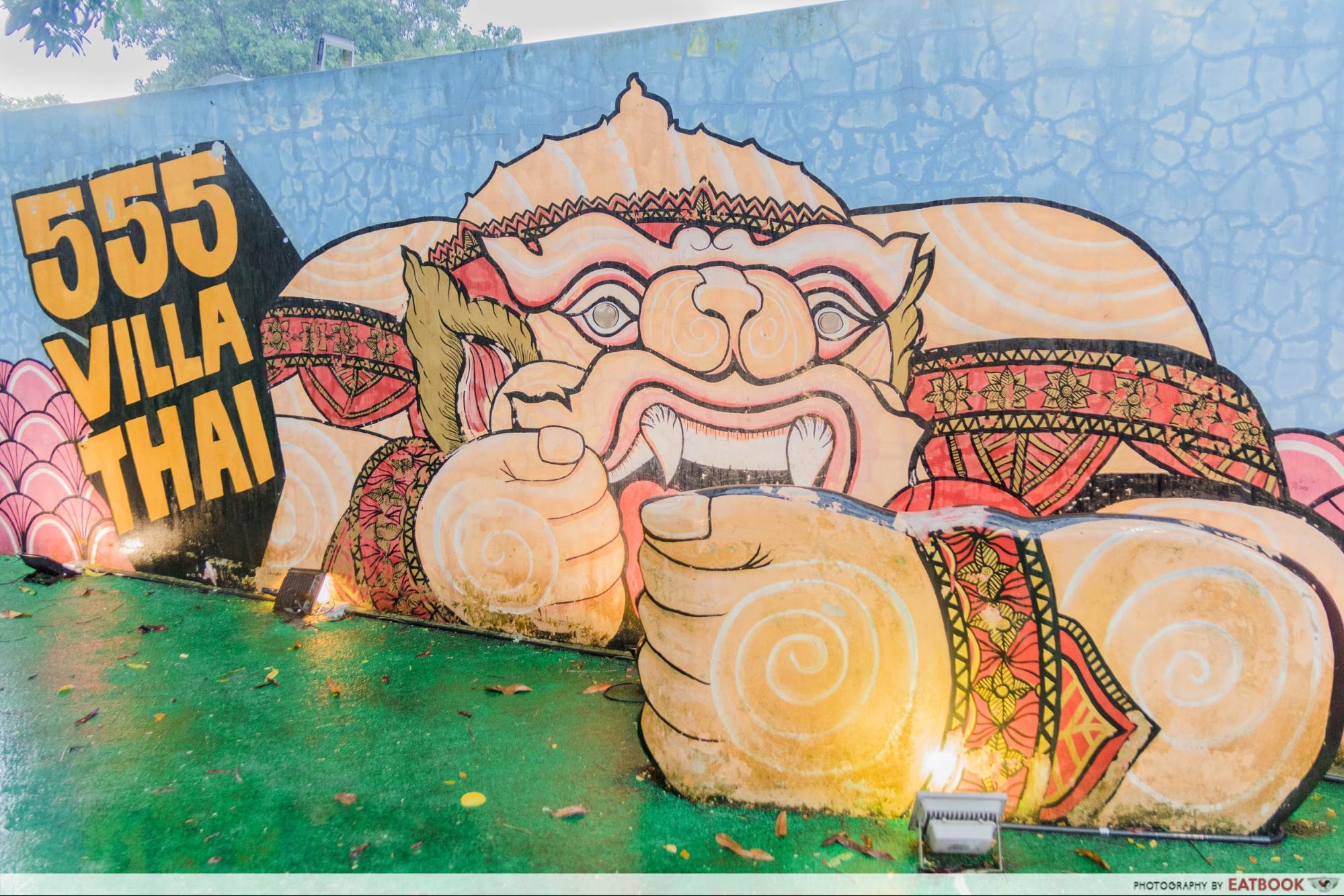 555 Villa Thai - mural