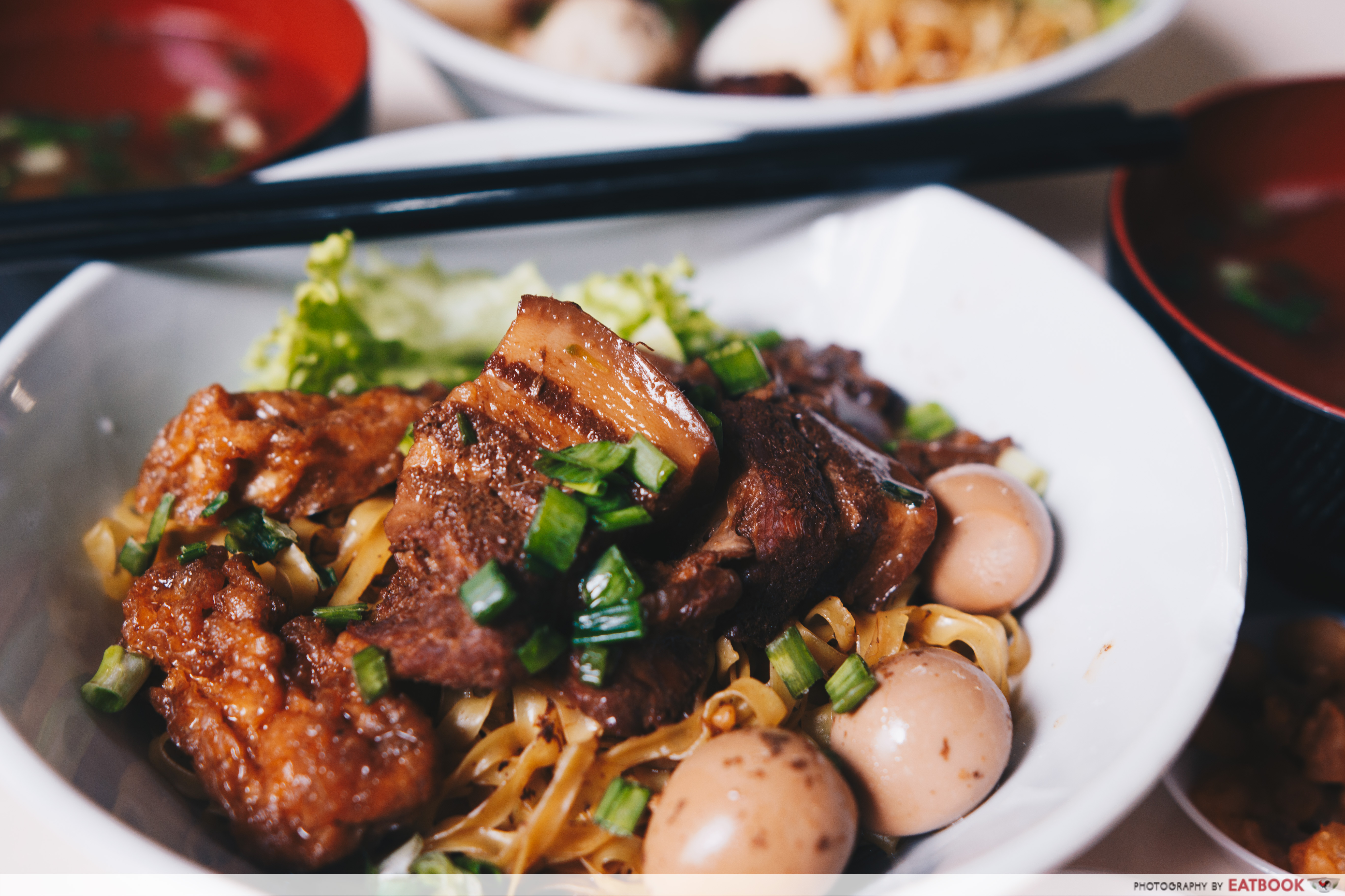 Aw's Signature Minced Pork Noodles - Braised Pork Noodle