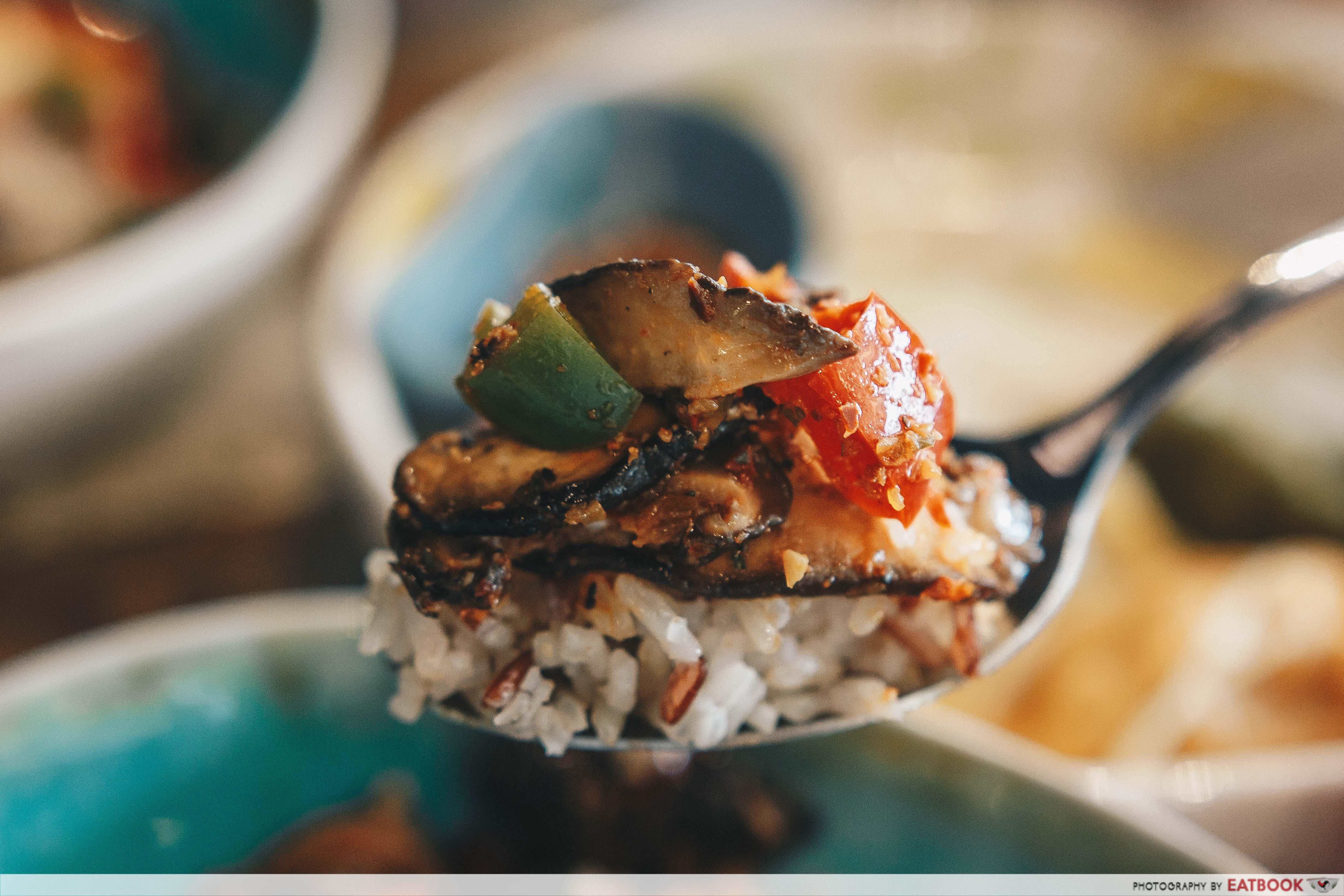 Dumplings Cafe - Rice Spoonful Close Up