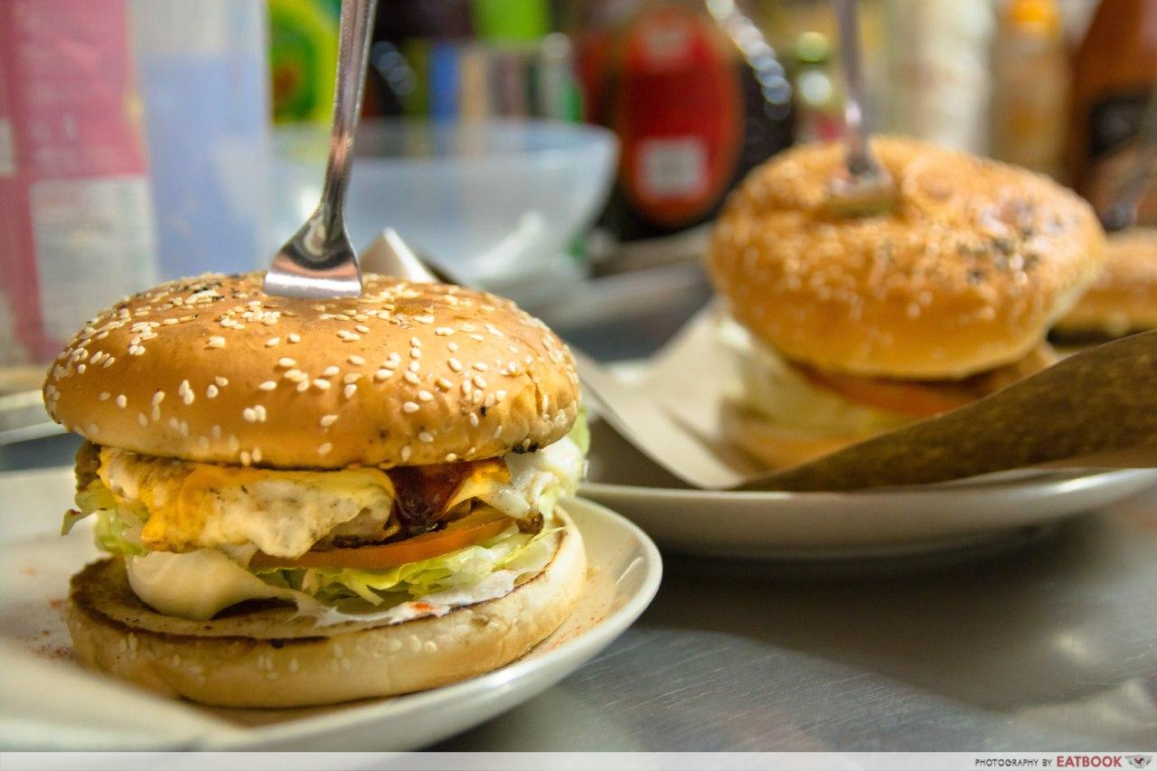 Ghim Moh Food Centre - I Love Burger Lah!