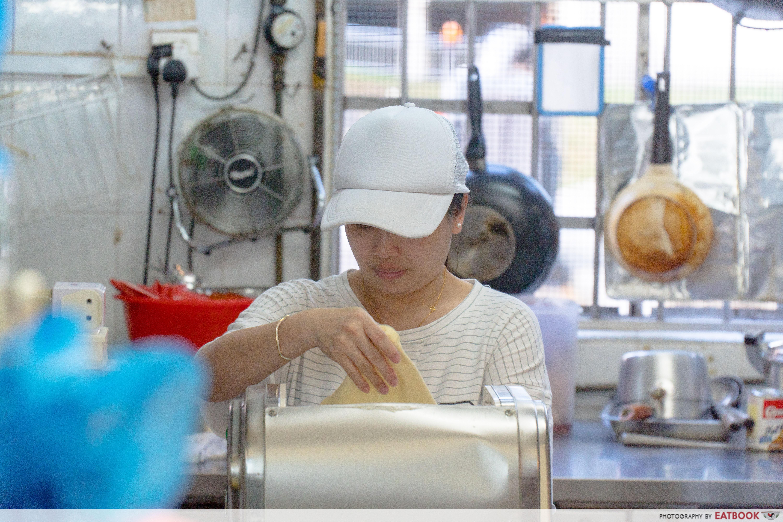 Madam Leong Ban Mian - noodle making