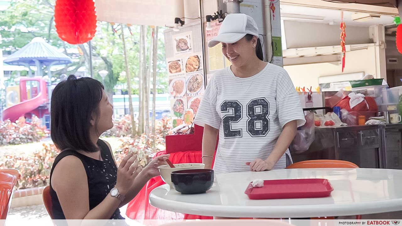 Madam Leong - interaction with customer