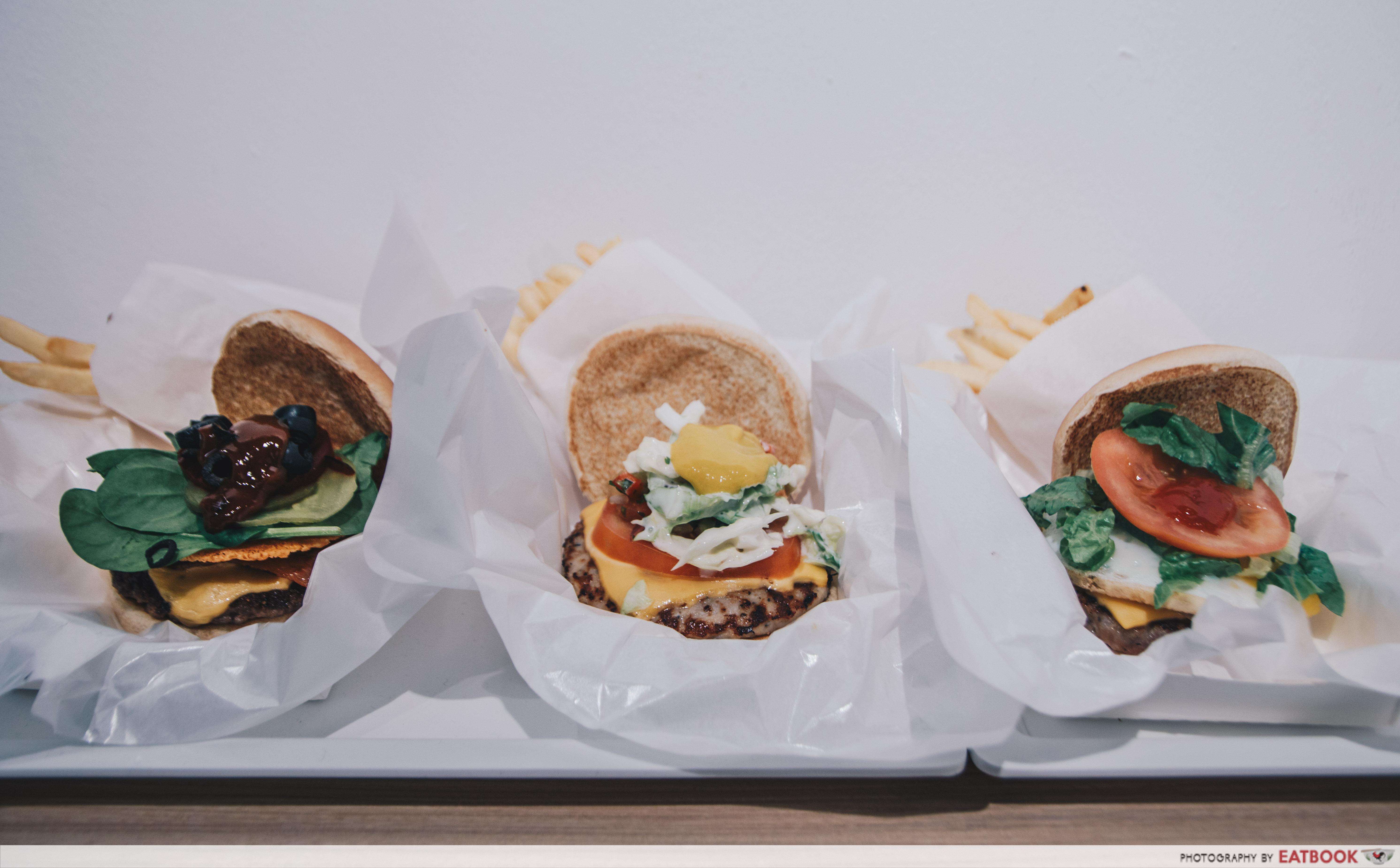 SIMPLEburger Inc. flatlay