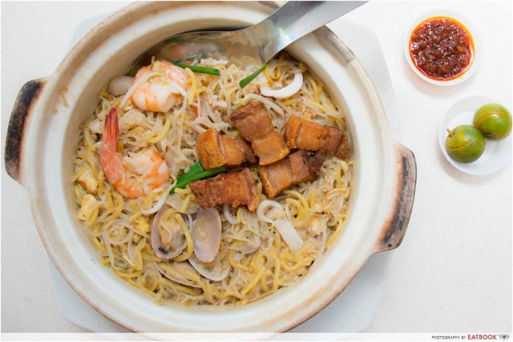 Singapore Hawker Food - Claypot Hokkien Mee