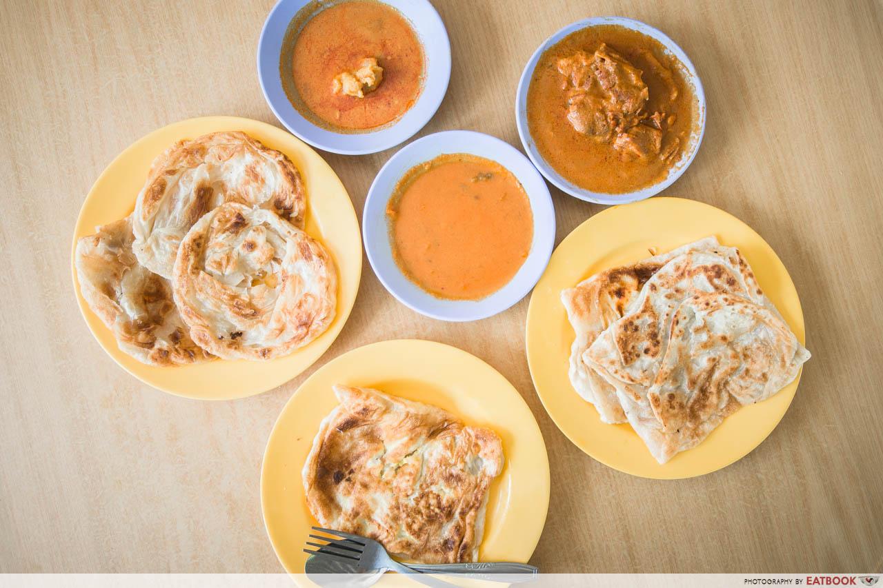 Singapore Hawker Food - Crispy Roti Prata