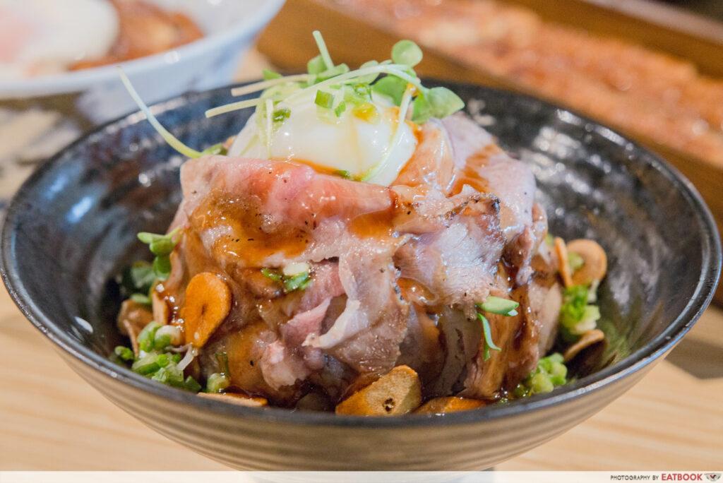Uya rare wagyu beef bowl