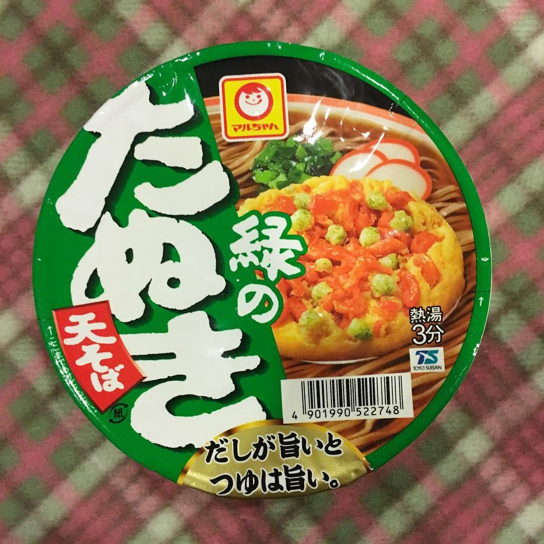 unique instant noodles-midori no tanuki soba