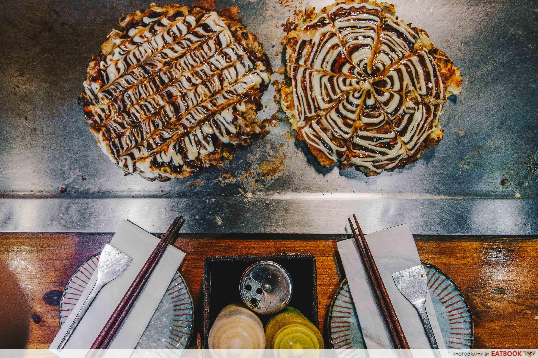 Ajiya Okonomiyaki - flatlay