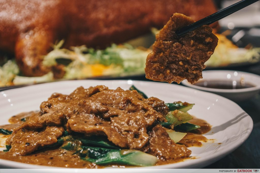Beauty in the pot maybank Sauteed Sliced Beef in Satay Sauce