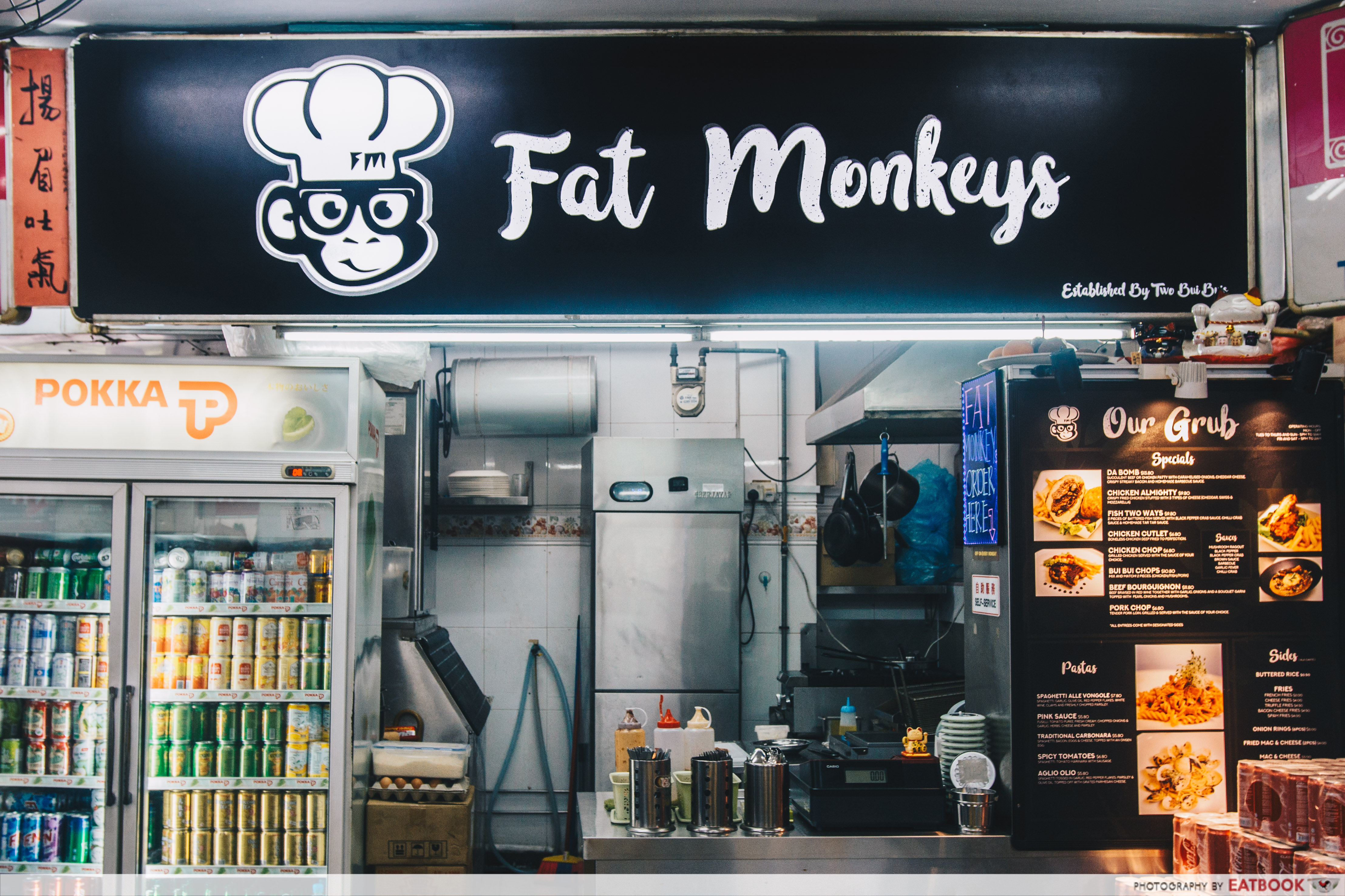 Fat Monkeys Singapore- stall front
