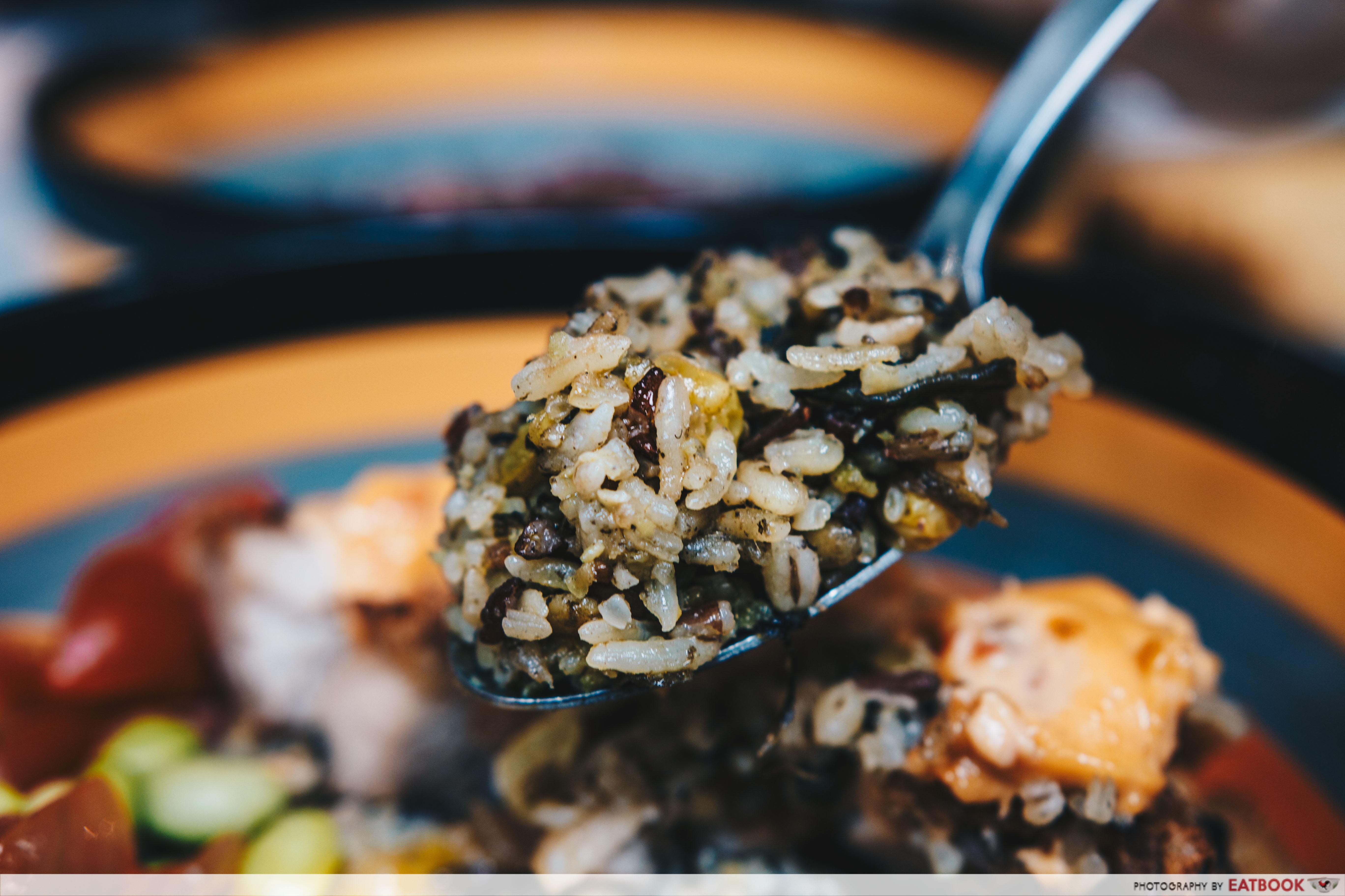 Garang Grill - olive grain rice