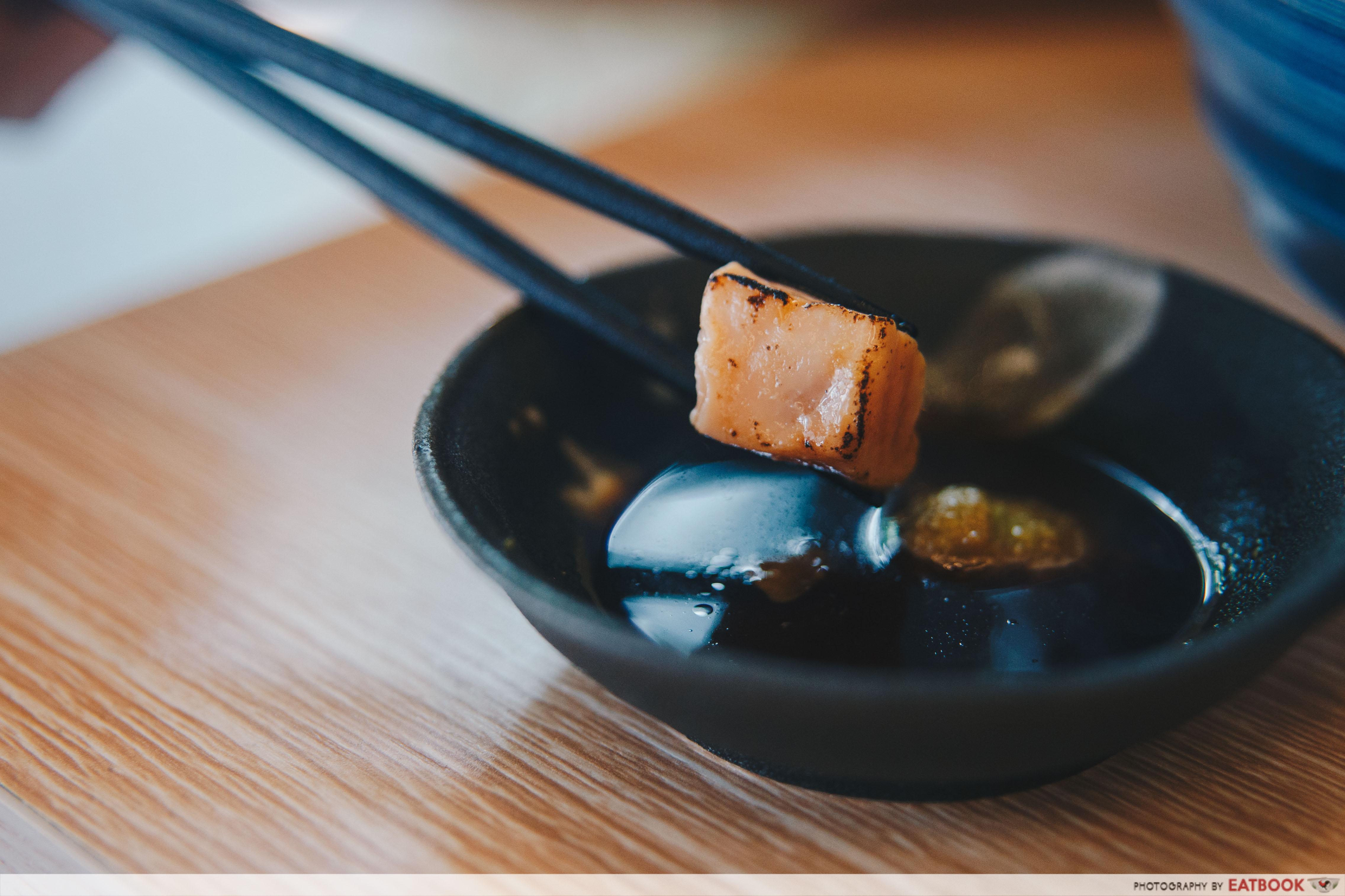 Umi Nami - Aburi Salmon Don Salmon Close Up