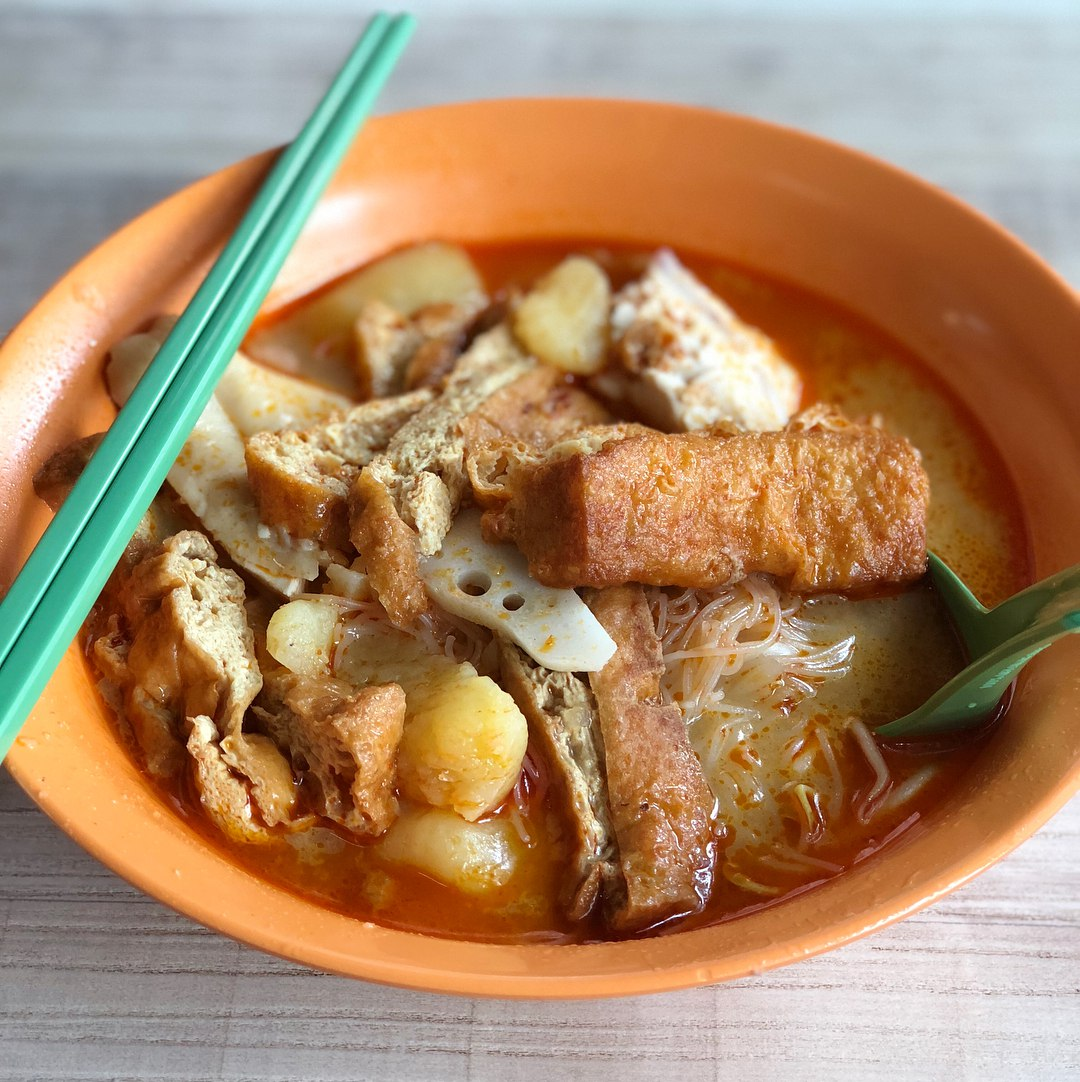 bedok hawker food - curry chicken mee