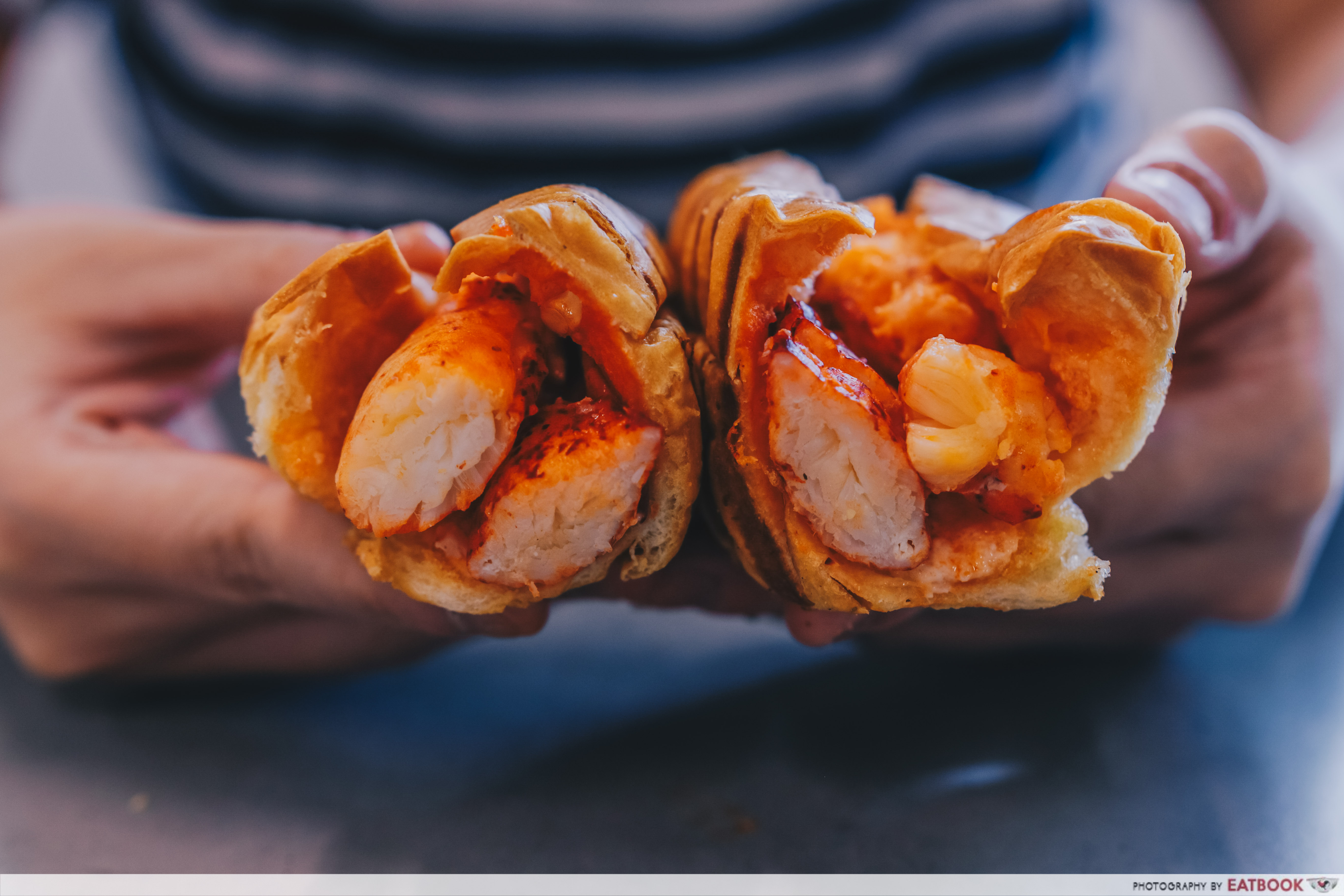 Chunky Lobsters - lobster roll cross-section