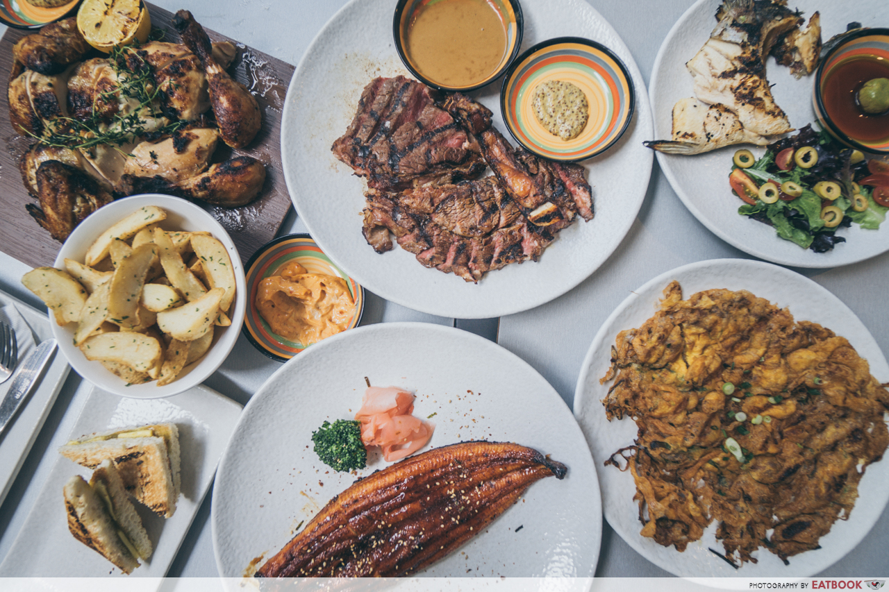 G Bar and Grill- flatlay
