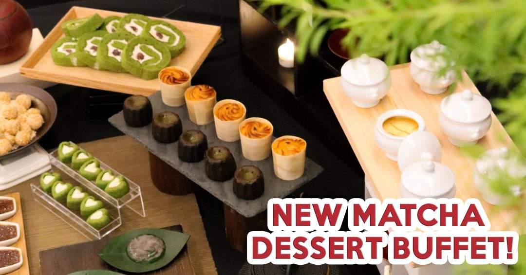 Matcha dessert buffet