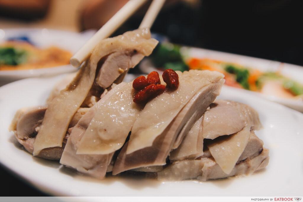 Mui kee congee drunken chicken in shaoxing wine