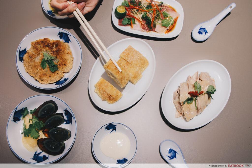 Mui kee congee flat lay