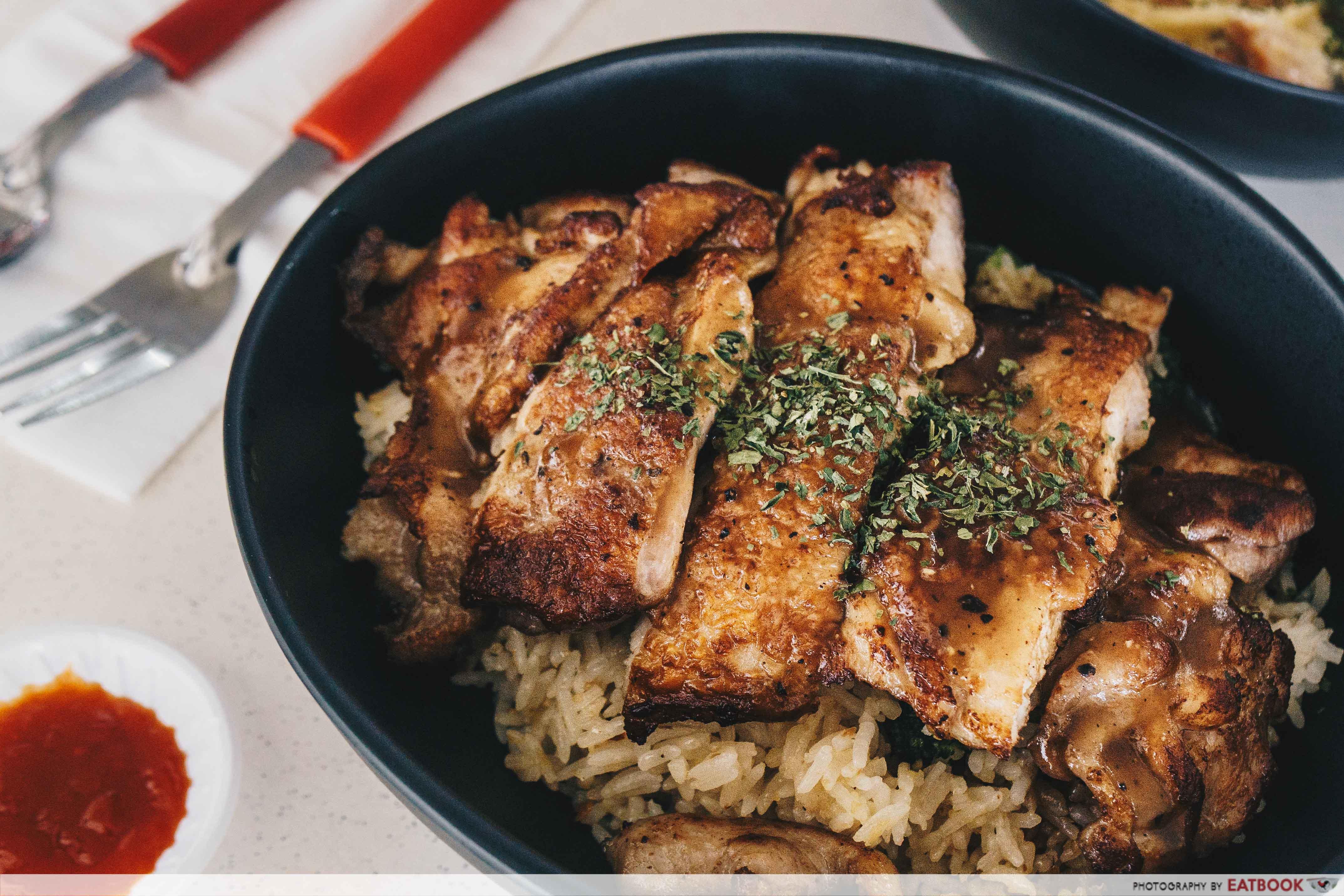 Ted's Kitchen - Chicken Chop Garlic Rice