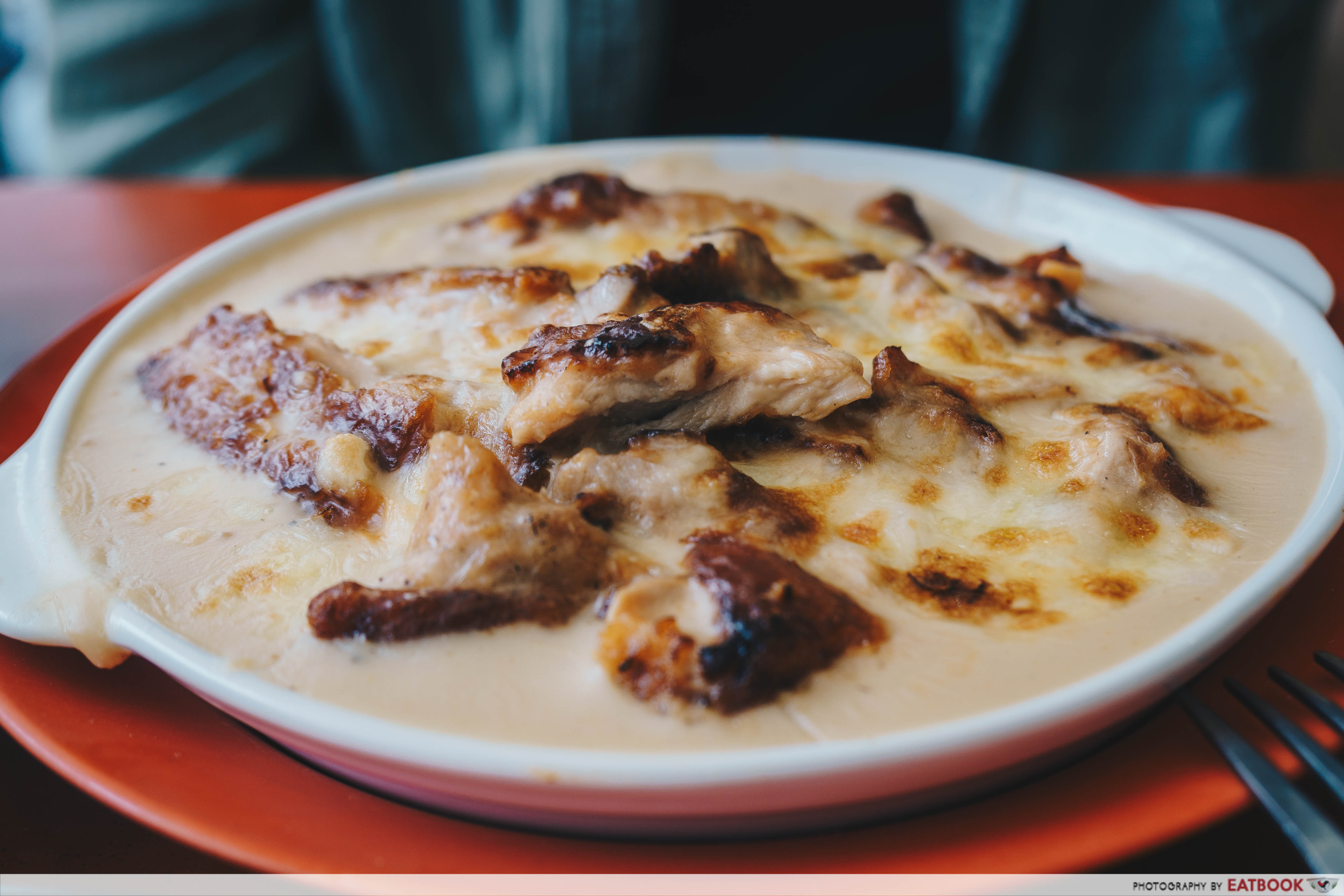 Tom's Kitchen - Baked Rice w White Sauce & Grilled Chicken