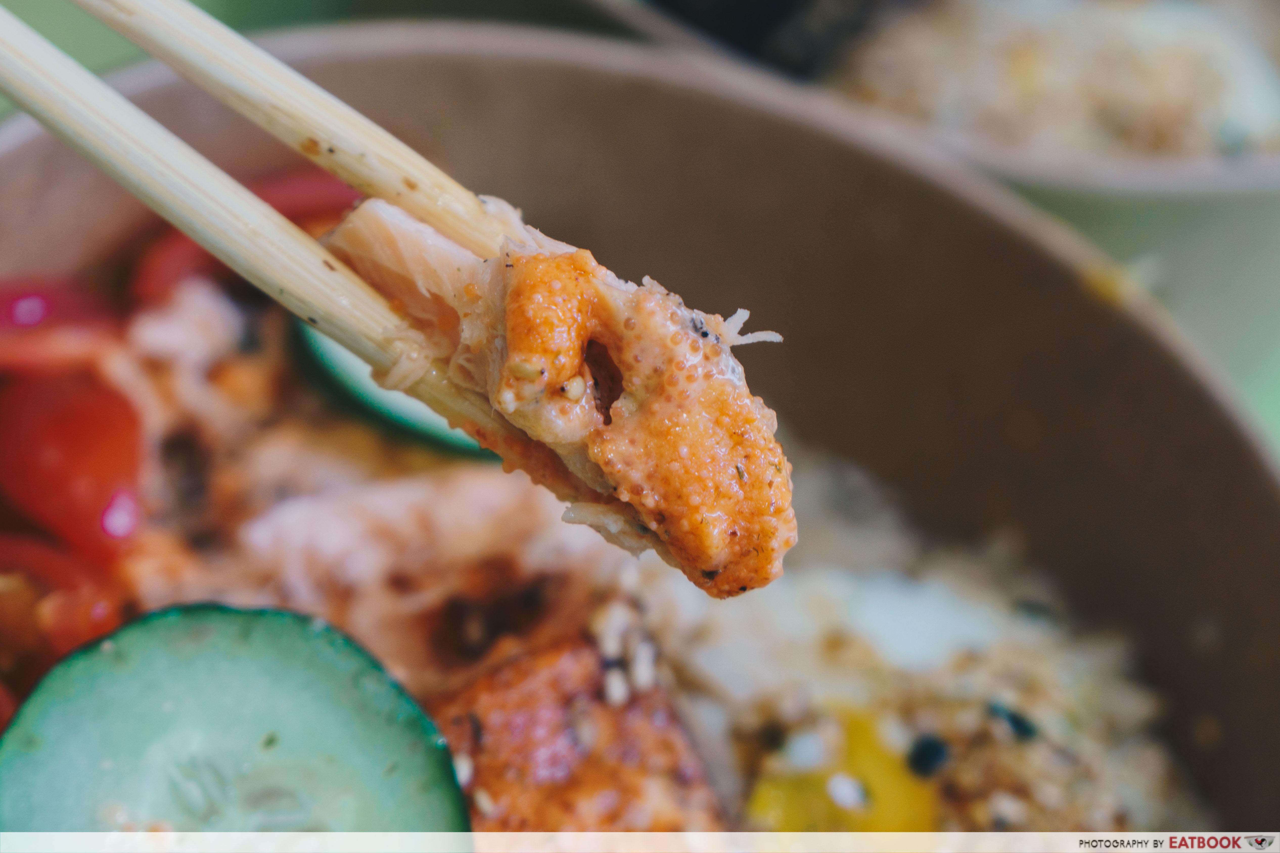 big bowls project- chopstick mentaiko salmon