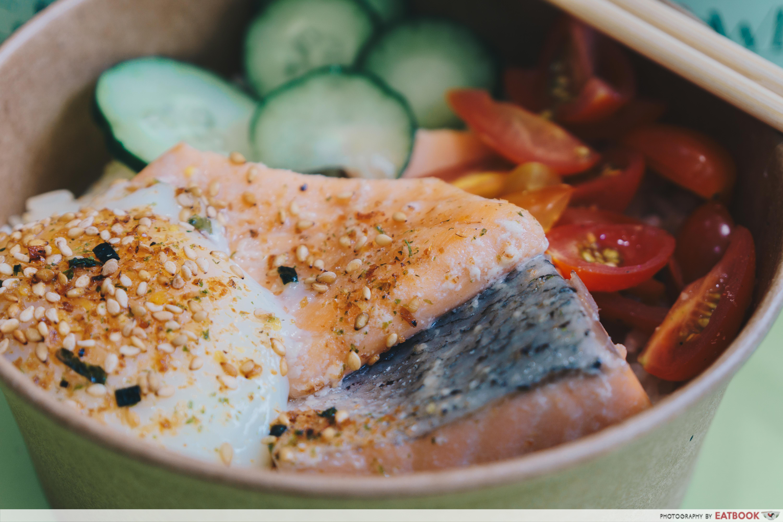 big bowls project- truffle oil salmon